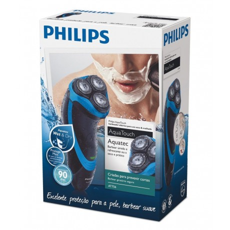 PHILIPS AQUA TOUCH WET AND DRY ELECTRIC SHAVER AT750